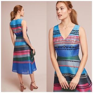 Anthropologie Pankaj & Nidhi Diane Striped Dress